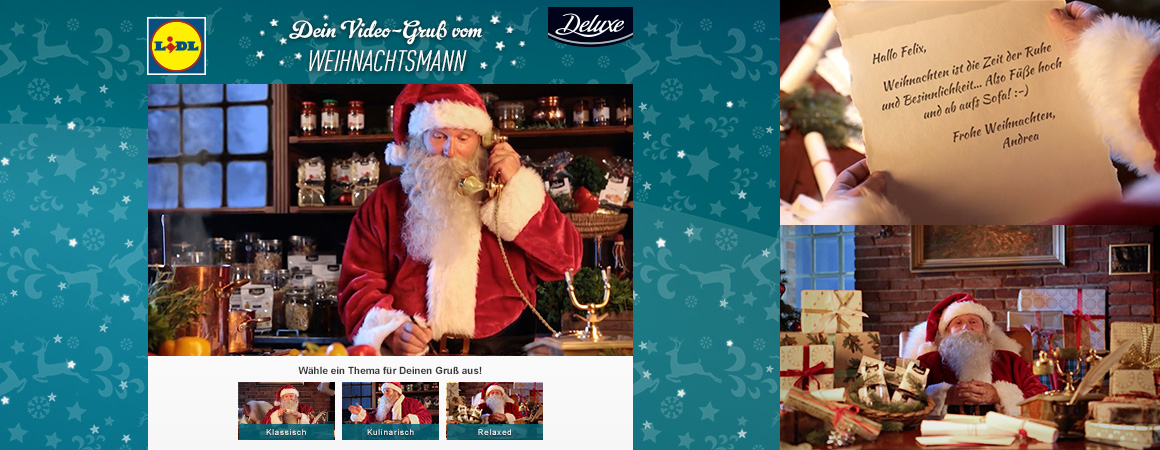 Wonderlandmovies video personalisierung personalized video this year supermarket chain lidl is offering its customers the opportunity to send personalized christmas greetings delivered directly by santa himself m4hsunfo