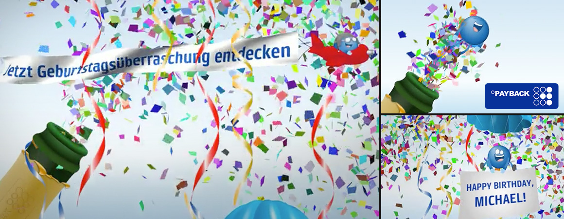 Wonderlandmovies video personalisierung personalized video payback sends personalized birthday greeting video to its customers in total around 63 name videos were created anonymously and automatically sent to the m4hsunfo